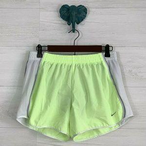 Nike Dri Fit Neon Yellowy Running Shorts